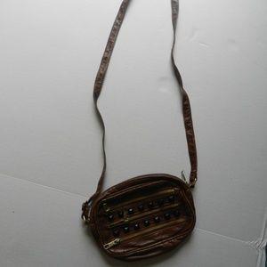 brown side satchel